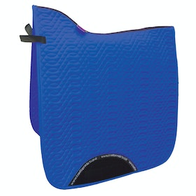 KM Elite Dressage Cotton Square Saddlepads - Sapphire