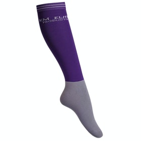 KM Elite Knee High Socks - Purple Grey