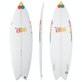 Surfboard Channel Islands FishBeard Futures Twin Fin - White