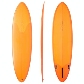 Channel Islands Mid FCS II 2+1 Fin Surfboard - Orange