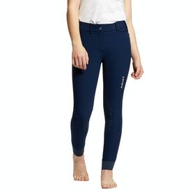 Ariat Tri Factor Grip Knee Patch Childrens Riding Breeches - Navy