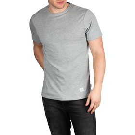 T-Shirt a Manica Corta Peregrine Made In England Classic - Light Grey