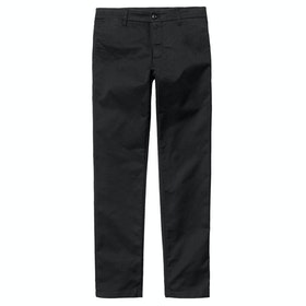 Carhartt Sid Lamar Chino Pants - Black Rinsed