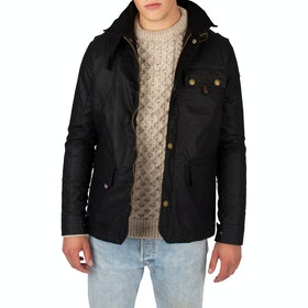 Wax Jacket Peregrine Made In England Bexley - Black