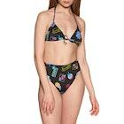 Calvin Klein Badge Motifs High Waist Cheeky Damen Bikiniunterteil