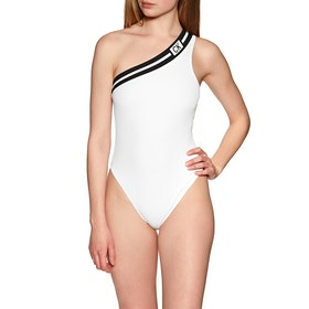 Costume Piscina Donna Calvin Klein Cheeky One Shoulder - Pvh Classic White