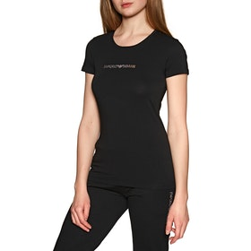 Emporio Armani Knitted Women's Loungewear Tops - Nero