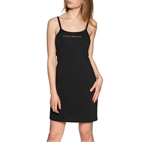 Emporio Armani Knitted Dress Damen Nachtwäsche - Nero