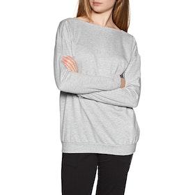 Emporio Armani Knitted Sweat Women's Loungewear Tops - Grigio Mel chiaro