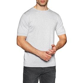 John Smedley Belden Crew Neck Herren Kurzarm-T-Shirt - Feather Grey