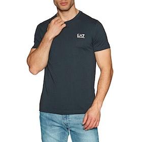 EA7 Cotton Short Sleeve T-Shirt - Night Blue
