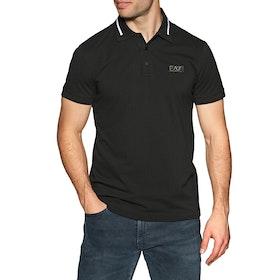 EA7 Cotton 2 Men's Polo Shirt - Black