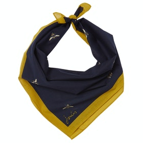 Joules Neckerchief Women's Scarf - Navy Botanical Bee