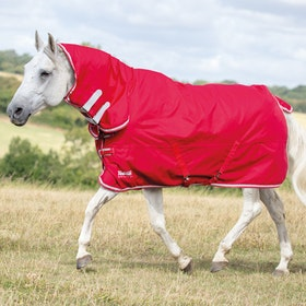 Shires Tempest Original Lite Combo Turnout Rug - Red/gry
