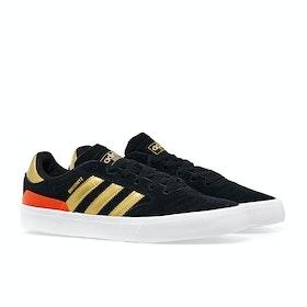 Adidas Busenitz Vulc II Shoes - Core Black gold solar Red