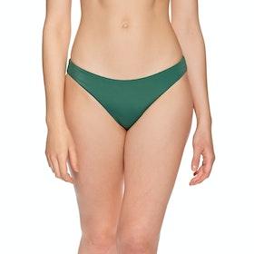 RVCA Solid Full Womens Bikini Bottoms - Forest