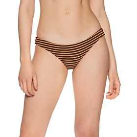 RVCA Bondi Stripe Medium Womens Bikini Bottoms - Midnight
