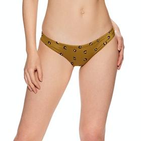 RVCA Chitah Cheeky Womens Bikini Bottoms - Almond