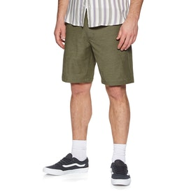 RVCA Back In 19in Hybrid Boardshorts - Olive