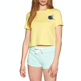 Element Branded Crop Womens Short Sleeve T-Shirt - Popcorn