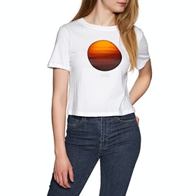 Element National Geographic Crop Womens Short Sleeve T-Shirt - White