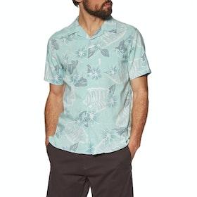 Vissla Kalakaua Woven Short Sleeve Shirt - Aqua
