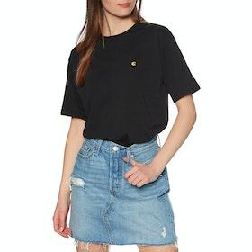 Carhartt Chasy Short Sleeve T-Shirt - Black / Gold