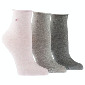 Calcetines Mujer Calvin Klein 3 Pack Juliet - Faded Pink Grey Heather