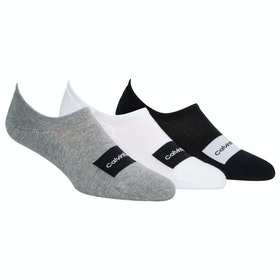 Calcetines Calvin Klein 3 Pack Joey - White Grey Heather Black