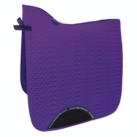 KM Elite Dressage Cotton Square Saddle Pad - Amethyst