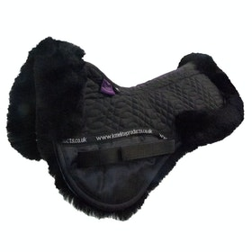 KM Elite Lambswool Half Pad Saddlepads - Black Black