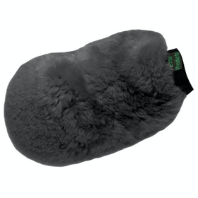 KM Elite Lambswool Grooming Mitt - Black