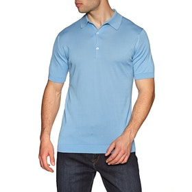 Koszulka polo John Smedley Adrian - Pure Blue