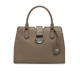 Lauren Ralph Lauren City Medium Satchel - Taupe