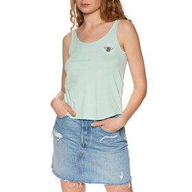 Element Branded Low Womens Tank Vest - Brook Green