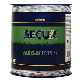 Agrifence Megaline 2 Superior Polywire for Electric Fencing - White