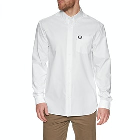 Fred Perry Oxford Hemd - White