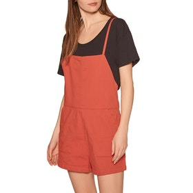RVCA Johan Womens Playsuit - Hot Coral