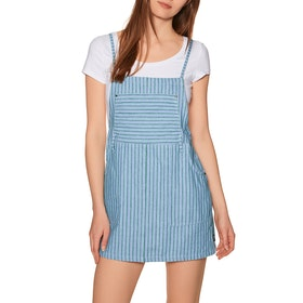RVCA River Womens Dress - Green Stripe