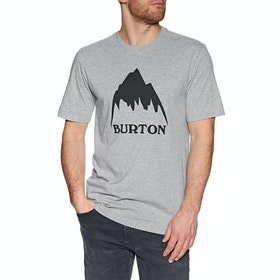 Burton Classic Mountain High Short Sleeve T-Shirt - Gray Heather