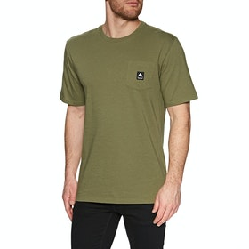 Burton Colfax Short Sleeve T-Shirt - Martini Olive