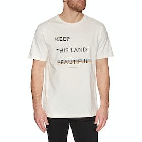 T-Shirt à Manche Courte Lightning Bolt Beautiful Land - White