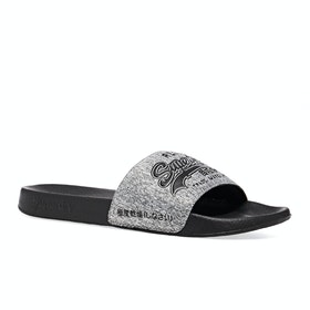 Sliders Superdry Vintage Logo Pool - Dark Grey Grit