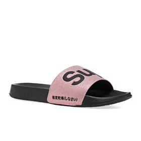 Superdry Classic Pool Womens Sliders - Rose Gold