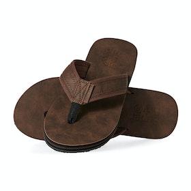 Superdry Premium Flip Flop Sandals - Brown