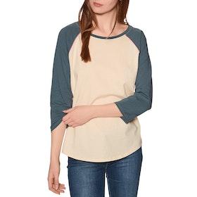 Burton Caratunk Raglan Womens Long Sleeve T-Shirt - Creme Brulee Dark Slate