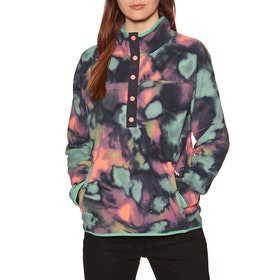 Burton Hearth Womens Fleece - Aura Dye