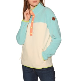 Burton Hearth Womens Fleece - Buoy Blue Creme Brulee