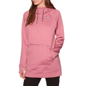 Burton Oak Long Womens Pullover Hoody - Rosebud Heather