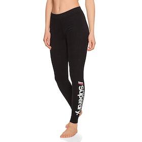 Leggings Femme Superdry Logo - Black
